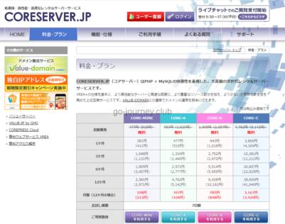 コアサーバー(CORESERVER)のレンタルサーバー