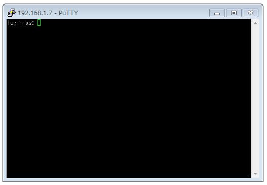 Putty でログイン可能だった