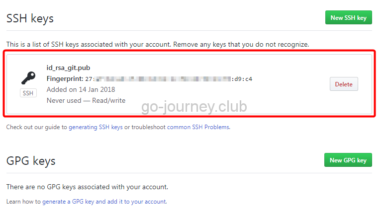 【Git】git clone コマンドで「fatal: Could not read from remote repository.」が表示された場合の対処方法