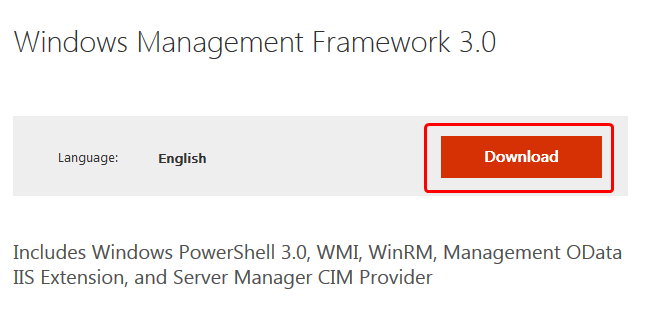 Windows Management Framework 3.0