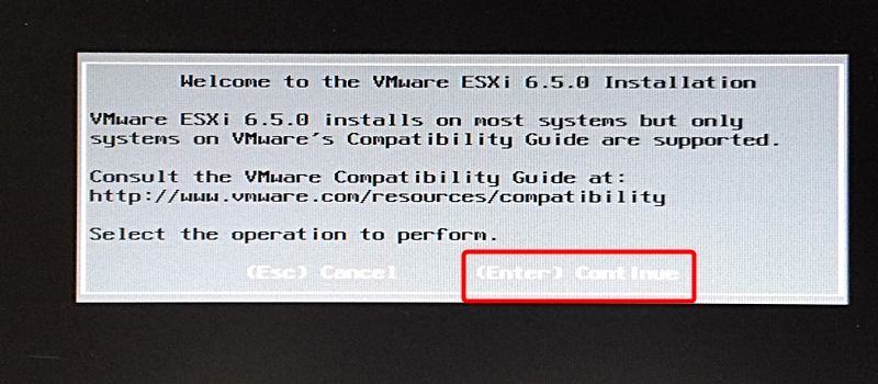 VMware vSphere Hypervisor ESXi 6.5 インストール&構築手順