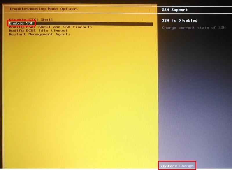 【VMware vSphere ESXi】 コマンド操作を有効にする手順