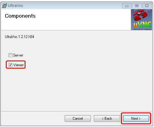 自宅のWindowsパソコンへ UltraVNC(VNC Viwer)をインストールする手順