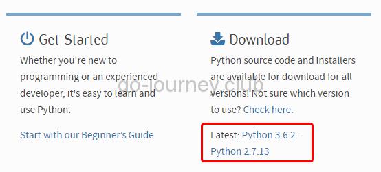 Latest: Python 3.6.2 - Python 2.7.13