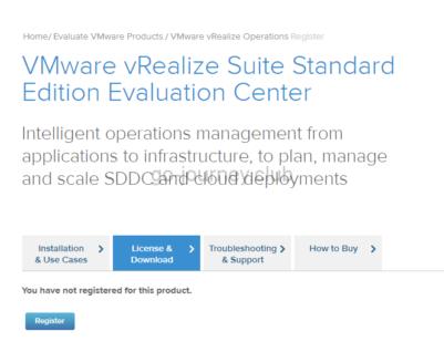 VMware vRealize Suite Standard Edition Evaluation Center